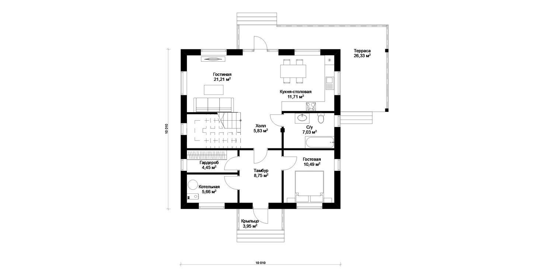 Изображение - Планировка: 1 этаж