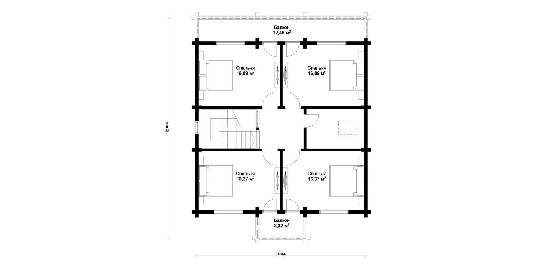 Изображение - Планировка: 2 этаж